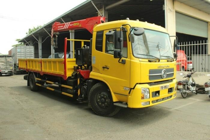 Xe tải gắn cẩu Dongfeng B170, Xe tải 8 Tấn gắn cẩu Sany 5 tấn 4 khúc 2