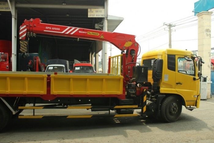 Xe tải gắn cẩu Dongfeng B170, Xe tải 8 Tấn gắn cẩu Sany 5 tấn 4 khúc