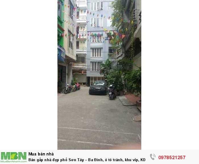 Bán gấp nhà đẹp phố Sơn Tây – Ba Đình, ô tô tránh, khu vip, KD văn phòng
