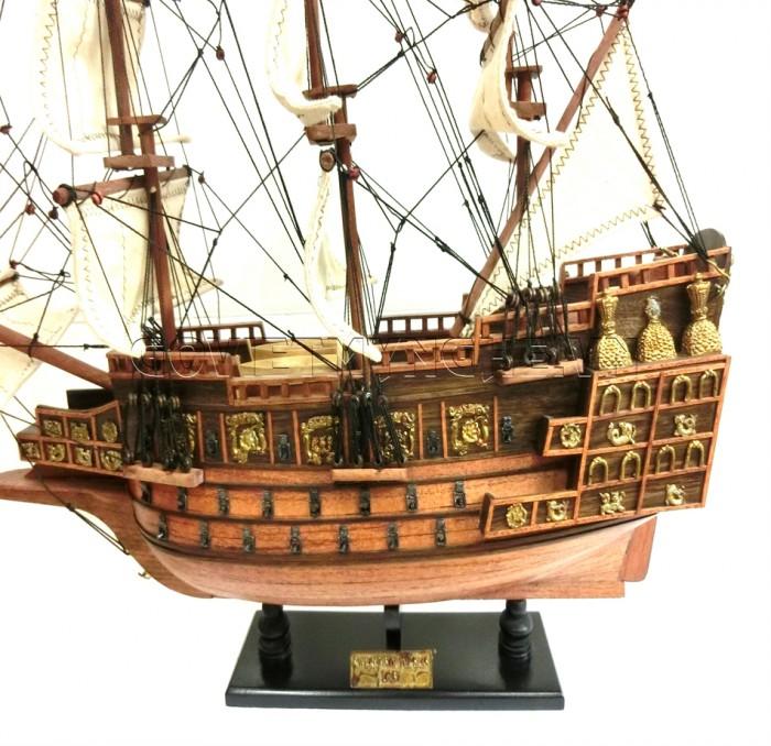 + Mô Hình Thuyền Gỗ Chiến Cổ Sovereign Of The Seas Thân 50cm - Dài 51 cm x Rộng 16 cm x Cao 44 cm. Giá 949.000₫
