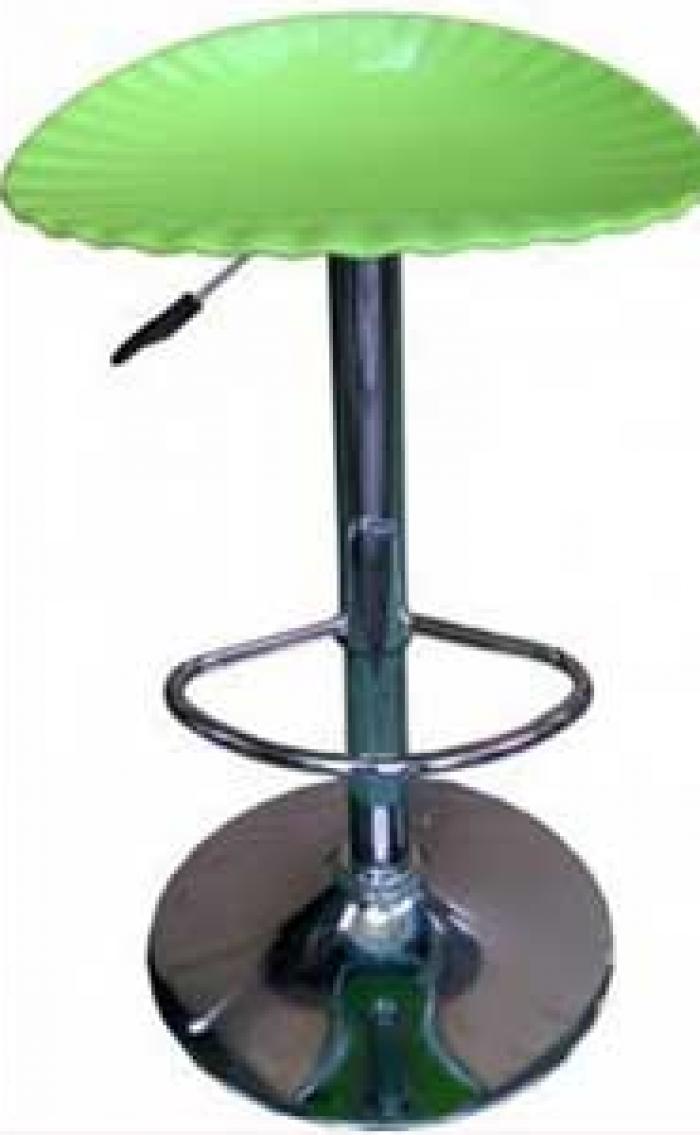 Ghế xoay mặt nhựa xanh lá cây0