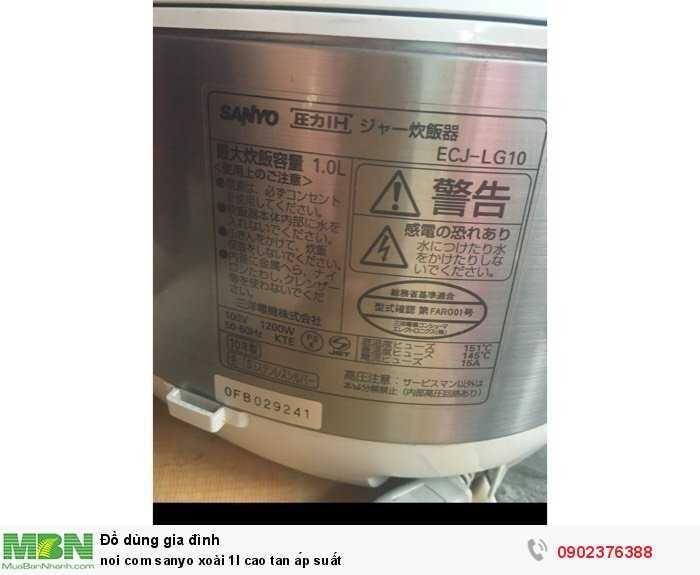 Nồi cơm sanyo xoài 1l cao tan áp suất1