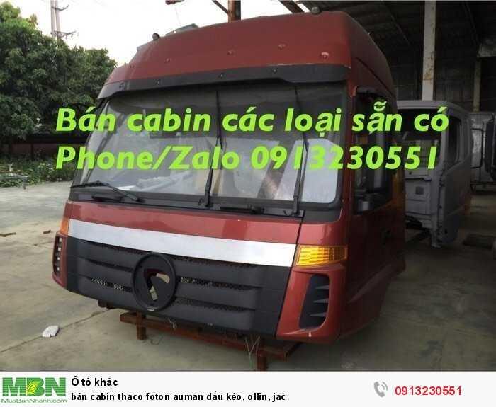 Bán cabin Thaco Foton Auman đầu kéo, Ollin, Jac