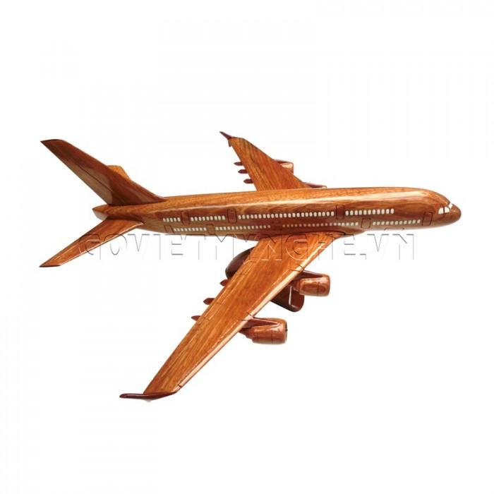 Mô Hình Máy Bay Gỗ Airbus A380