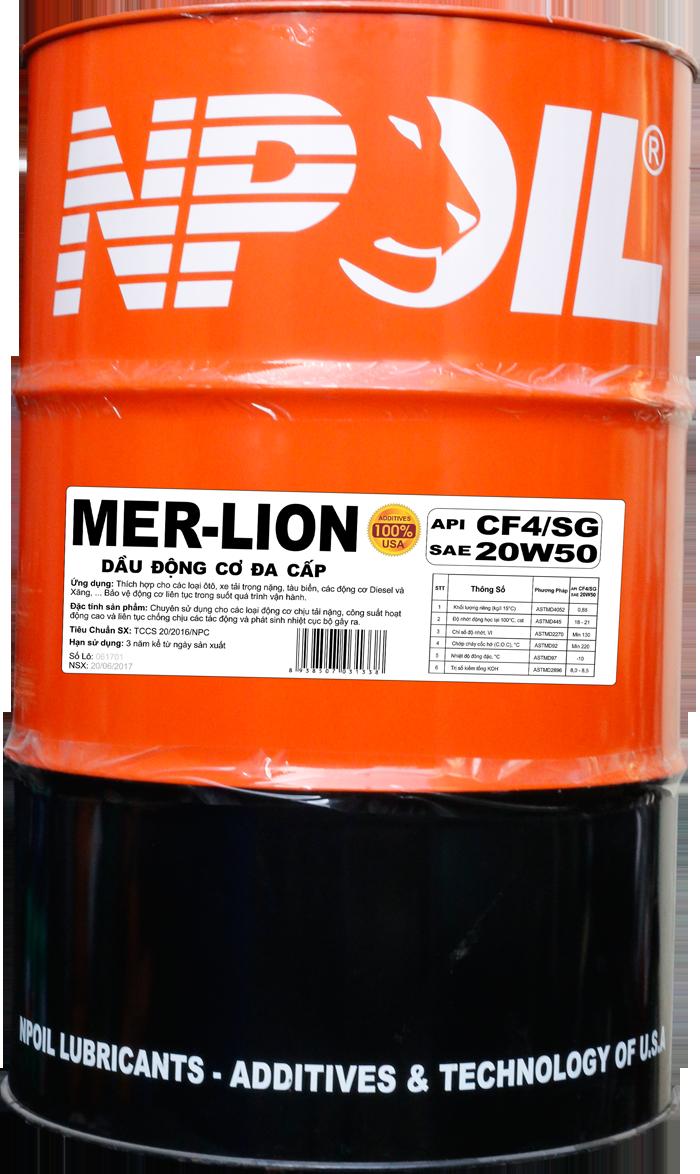 Dầu động cơ xe tải, tàu cao cấp – MER-LION