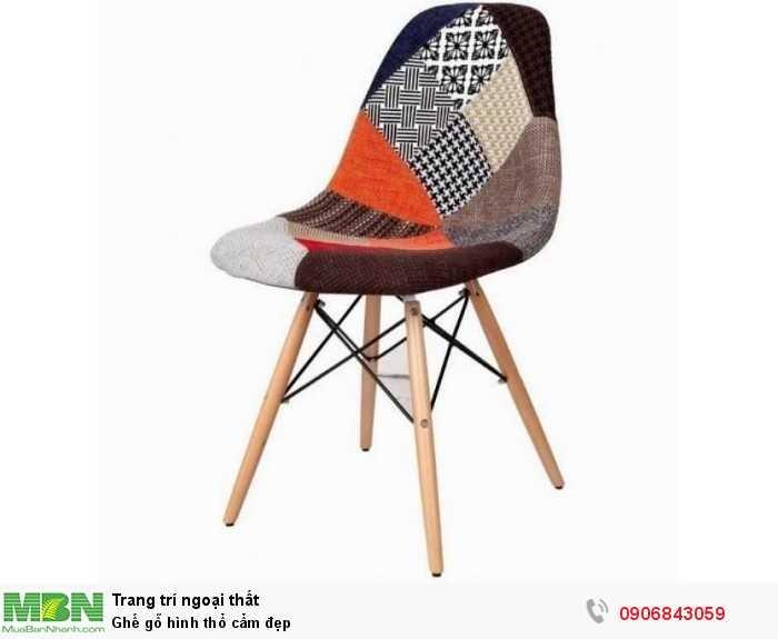 Ghế gỗ hình thổ cẩm đẹp0