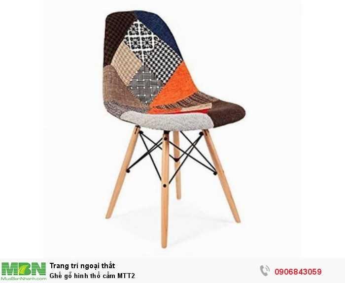 Ghế gỗ hình thổ cẩm MTT20
