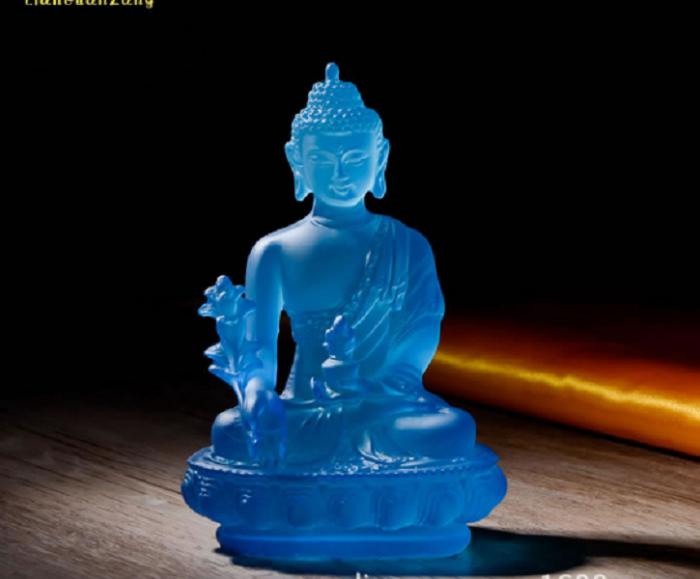 Tượng Phật Dược Sư Lưu Ly Có Đèn Đổi 7 Màu1