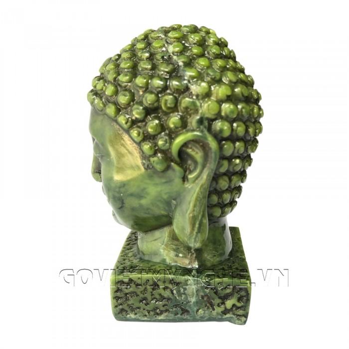 Tượng Đá Đầu Phật Thích Ca - Cao 9cm  -  Màu Xanh Lục Bích  + Kích thước: Dài 5cm x Rộng 6cm x Cao 9cm. Giá 160.000₫5
