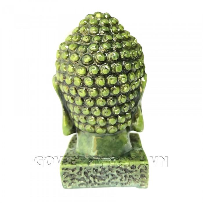 Tượng Đá Đầu Phật Thích Ca - Cao 9cm  -  Màu Xanh Lục Bích  + Kích thước: Dài 5cm x Rộng 6cm x Cao 9cm. Giá 160.000₫6