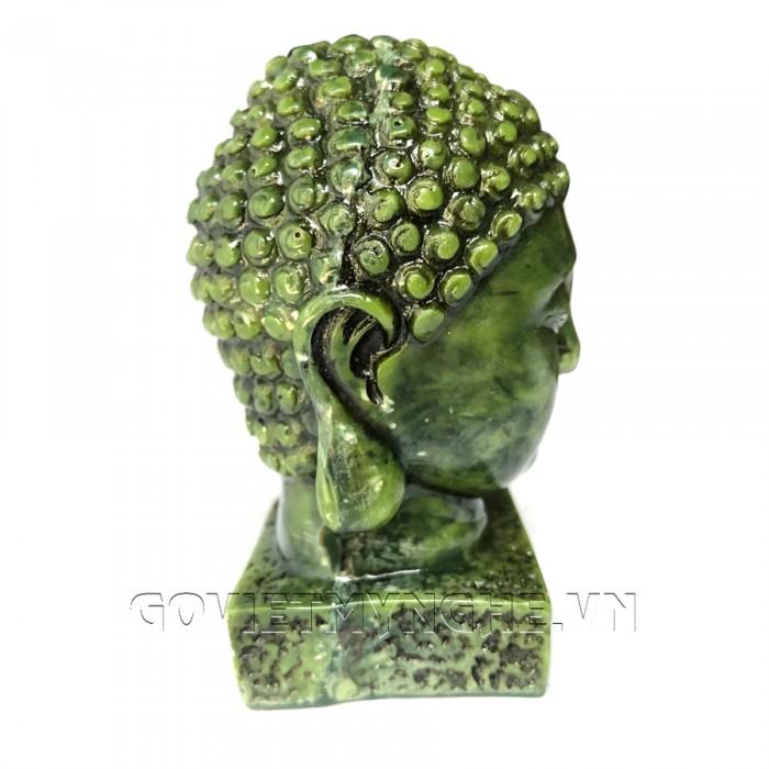 Tượng Đá Đầu Phật Thích Ca - Cao 9cm  -  Màu Xanh Lục Bích  + Kích thước: Dài 5cm x Rộng 6cm x Cao 9cm. Giá 160.000₫7
