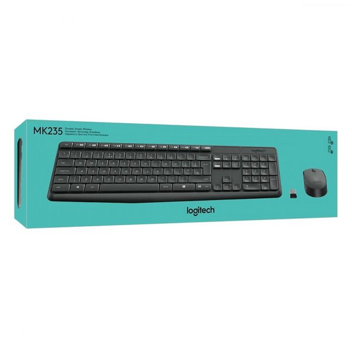 Bộ bàn phím chuột không dây Logitech MK235 chính hãng tặng pin1