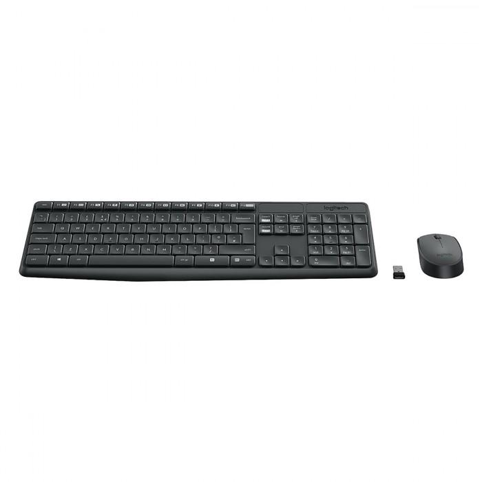 Bộ bàn phím chuột không dây Logitech MK235 chính hãng tặng pin0