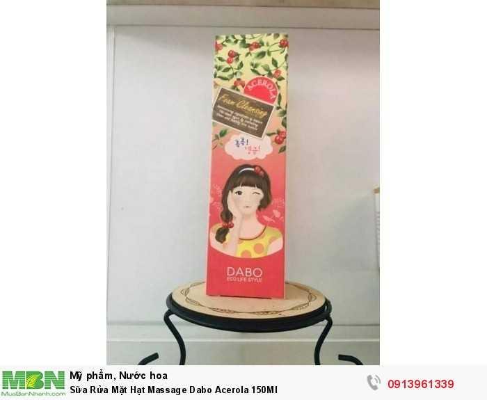 Sữa Rửa Mặt Hạt Massage Dabo Acerola 150Ml  - Hotline tư vấn bán hàng: 0913961339 (MsHuệ 24/24)