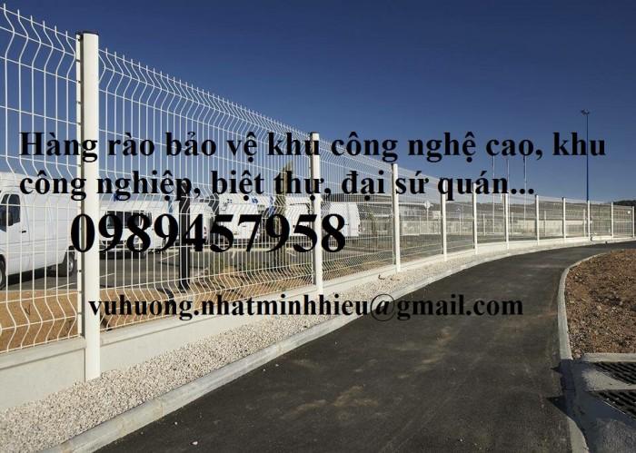Lưới hàng rào Nhà máy Phi 5 50x150 và 50x200 sơn tĩnh điện giá tốt0