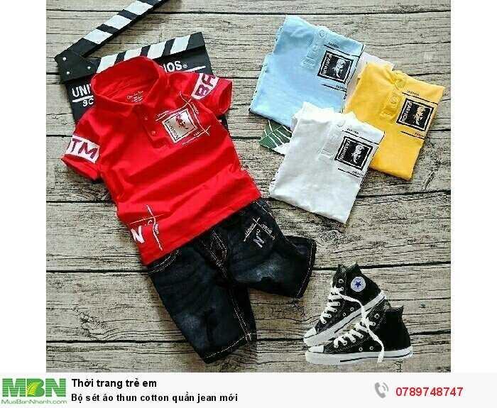 Bộ sét áo thun cotton quần jean mới0