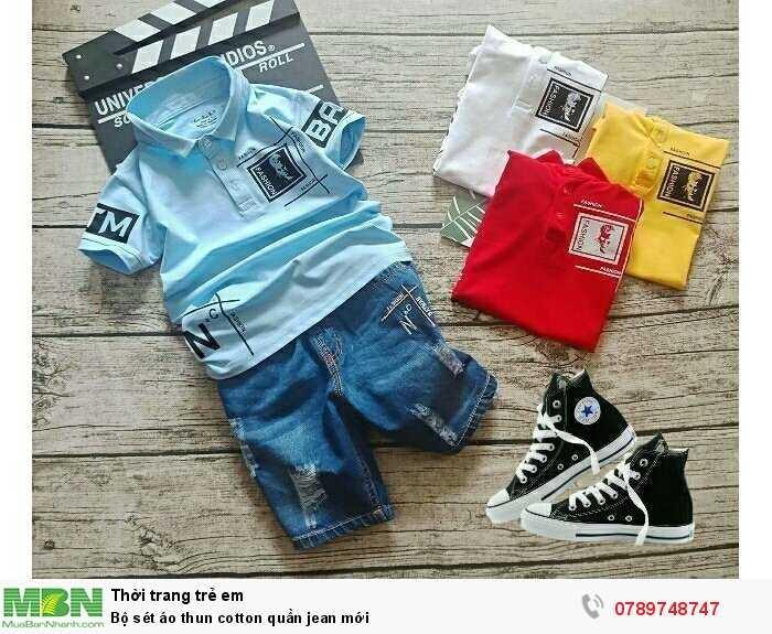Bộ sét áo thun cotton quần jean mới1