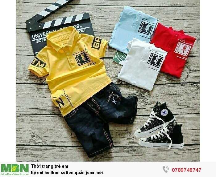 Bộ sét áo thun cotton quần jean mới2