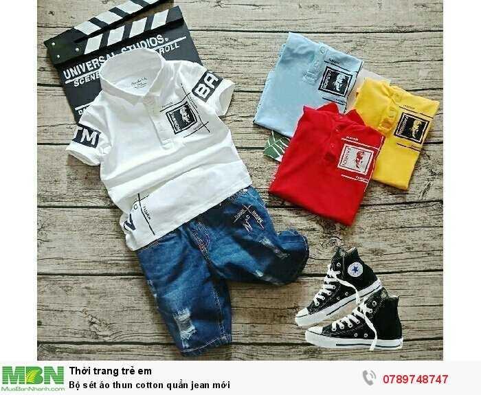 Bộ sét áo thun cotton quần jean mới3