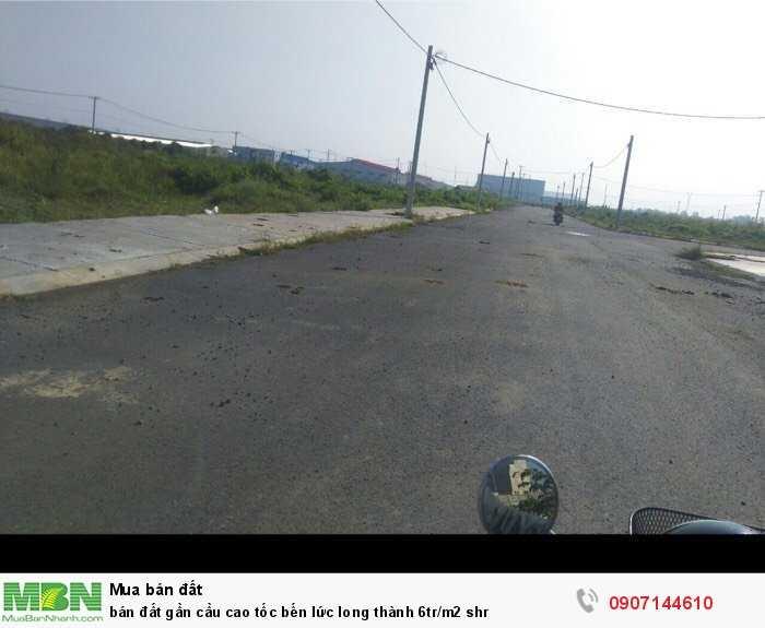 Bán đất gần cầu cao tốc Bến Lức Long Thành 6tr/m2 shr