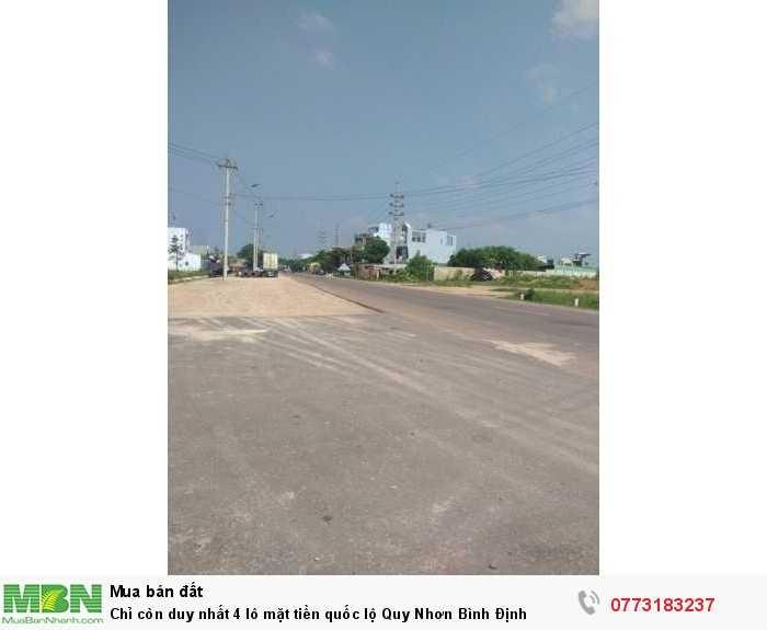 Chỉ còn duy nhất 4 lô mặt tiền quốc lộ Quy Nhơn Bình Định