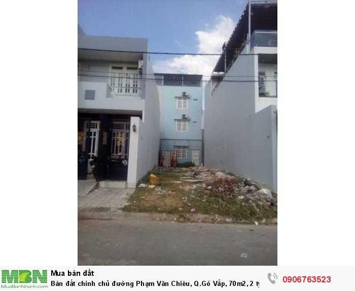 Bán đất chính chủ đường Phạm Văn Chiêu, Q.Gò Vấp, 70m2