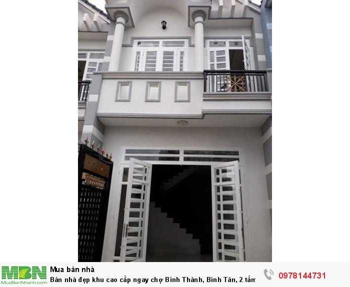 Bán nhà đẹp khu cao cấp ngay chợ Bình Thành, Bình Tân, 2 tấm, 90m2