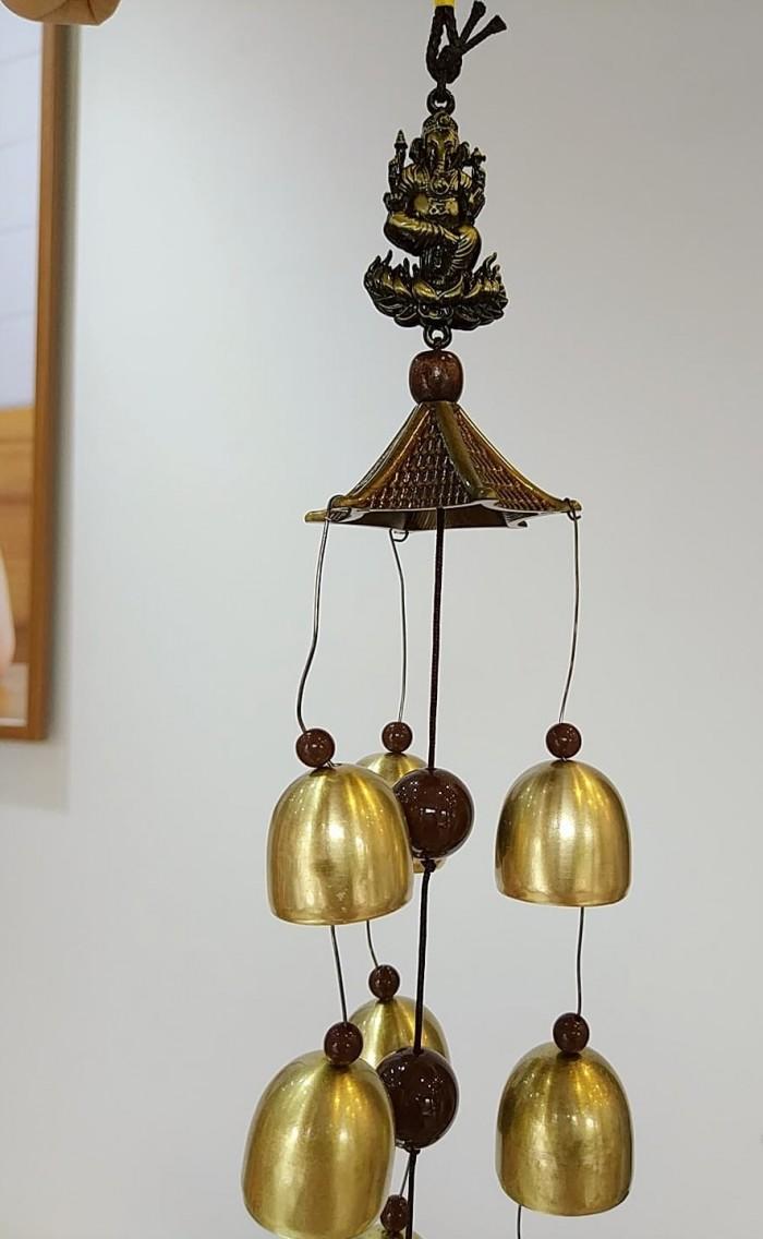Chuông gió vị ThầnGanesha tượng trưng tài trí, hạnh phúc và thành công0