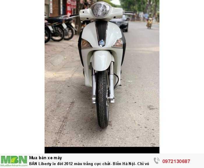 BÁN Liberty ie đời 2012 màu trắng cực chất- Biển Hà Nội- Chỉ với 24 triệu đồng.