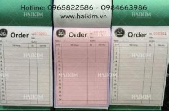 Hàng hoá, vật liệu in hóa đơn, quyển order, in hóa đơn bán lẻ, hóa đơn bán hàng