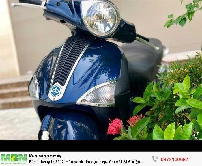 Bán Liberty ie 2012 màu xanh tím cực đẹp- Chỉ với 24,6 triệu- Biển Hà Nội.