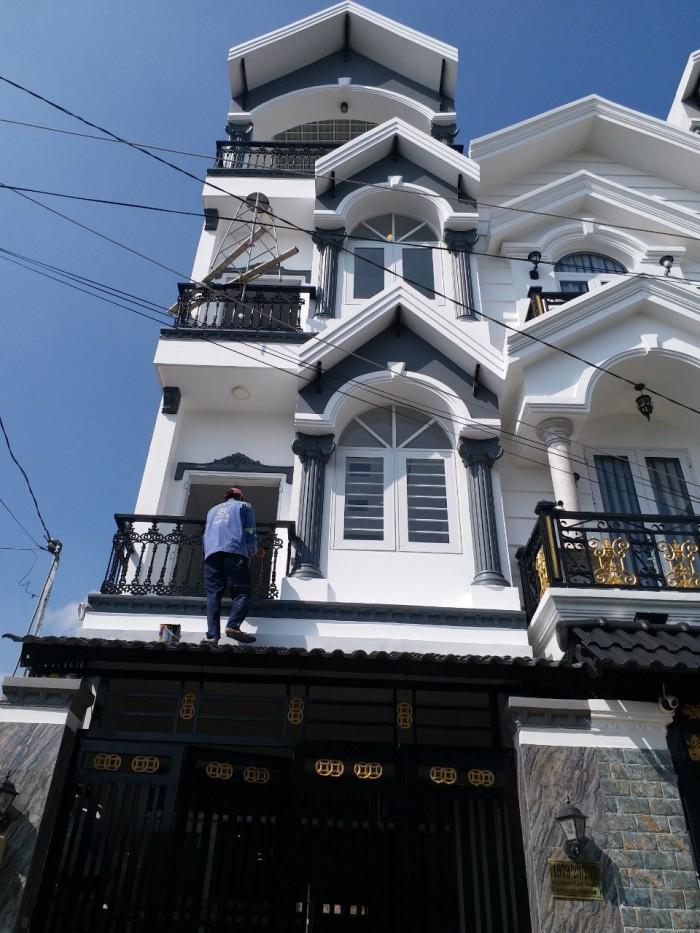 Bán 3 Lầu,Sân Thượng, 4x14m, Hẻm 1979 Huỳnh Tấn Phát, Thị Trấn Nhà Bè