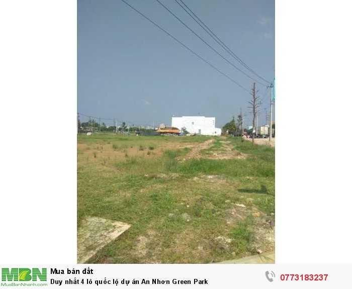 Duy nhất 4 lô quốc lộ dự án An Nhơn Green Park