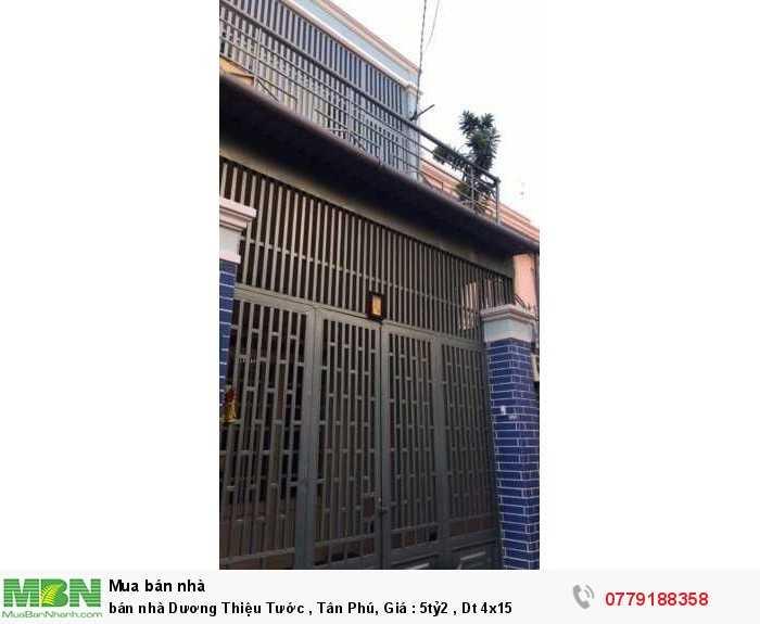 Bán nhà Dương Thiệu Tước , Tân Phú , Dt 4x15
