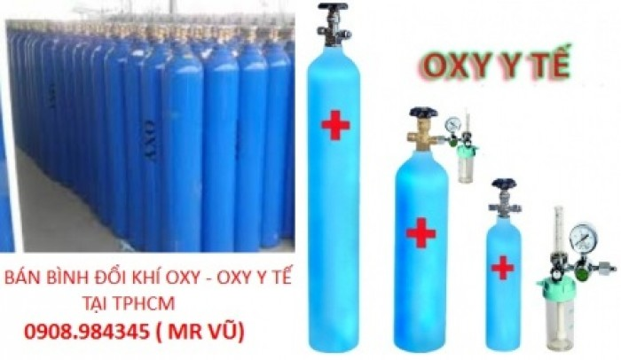 Bình khí Oxy thở - Oxy y tế tại Bình Dương - Củ Chi - Tân Bình - Bình Chánh - TPHCM0