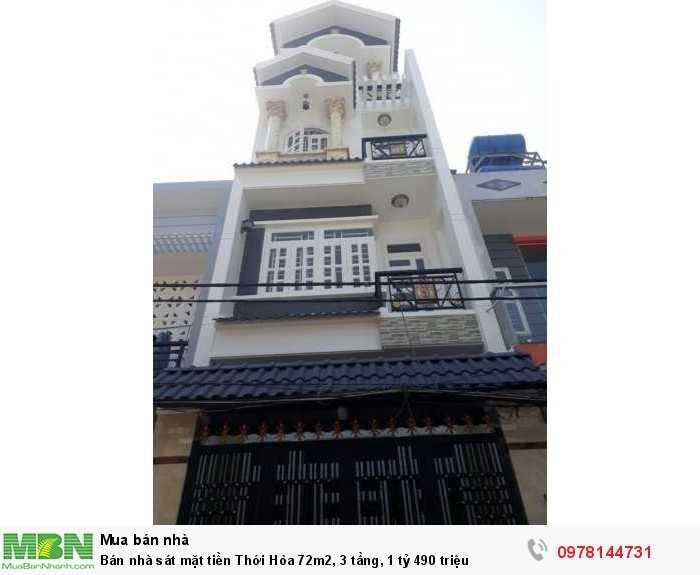 Bán nhà sát mặt tiền Thới Hòa 72m2, 3 tầng