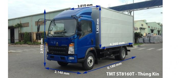 Xe tải thùng 6 tấn sino 8160T đời mới nhất, giá rẻ