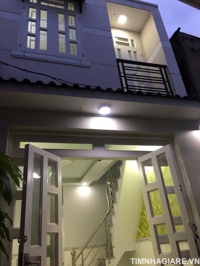 Bán nhà hẻm 1806 Huỳnh Tấn Phát, Nhà Bè, Tp.HCM. Nhà 1 trệt 1 lầu, DT 3.5m x 5m