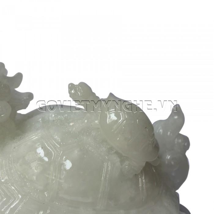 Tượng Đá Long Quy Phong Thủy - Đá Non Nước  + Kích thước: Dài 12cm x Rộng 8cm x Cao 10cm . Giá 195.000₫25