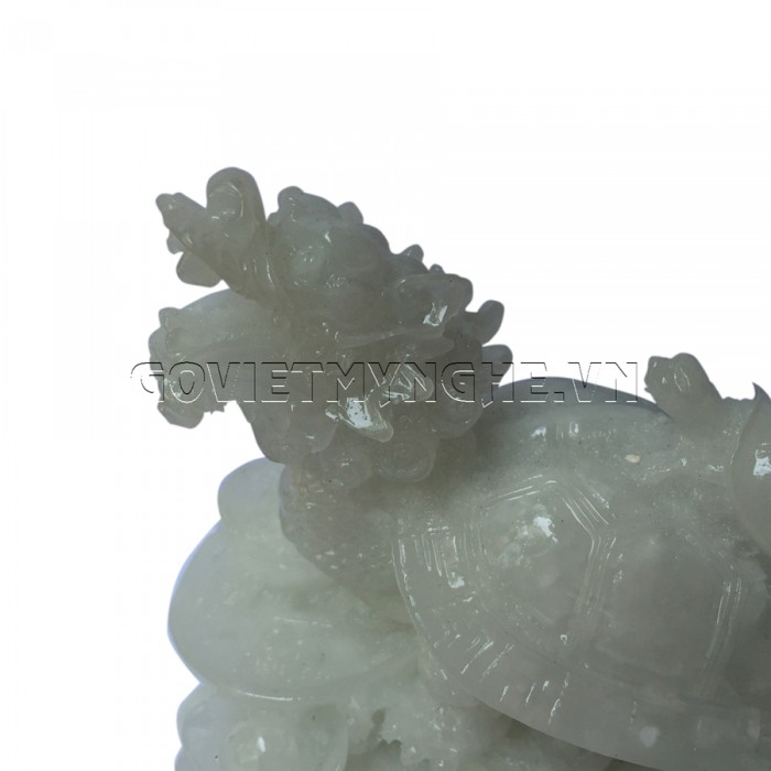 Tượng Đá Long Quy Phong Thủy - Đá Non Nước  + Kích thước: Dài 12cm x Rộng 8cm x Cao 10cm . Giá 195.000₫26