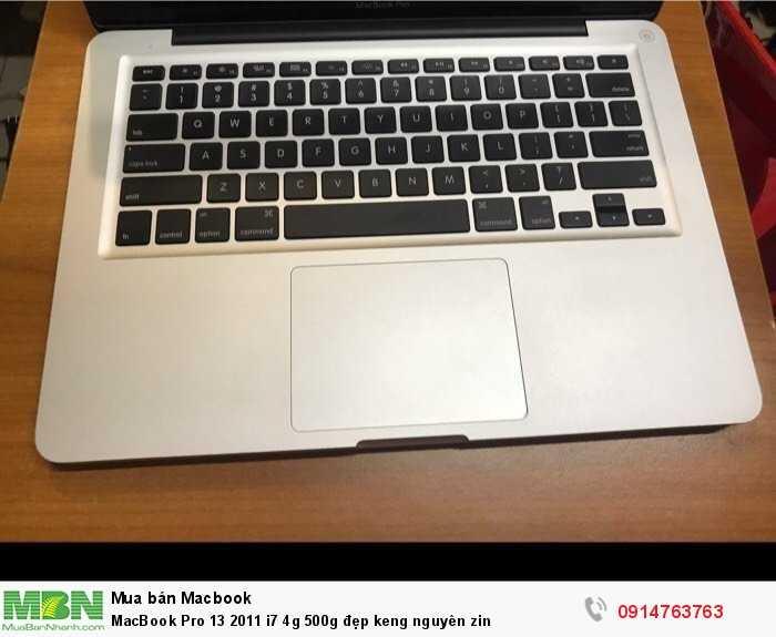 MacBook Pro 13 2011 i7 4g 500g đẹp keng nguyên zin