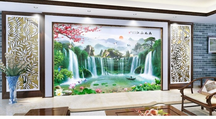Tranh 3d trang trí nội thất cao cấp1
