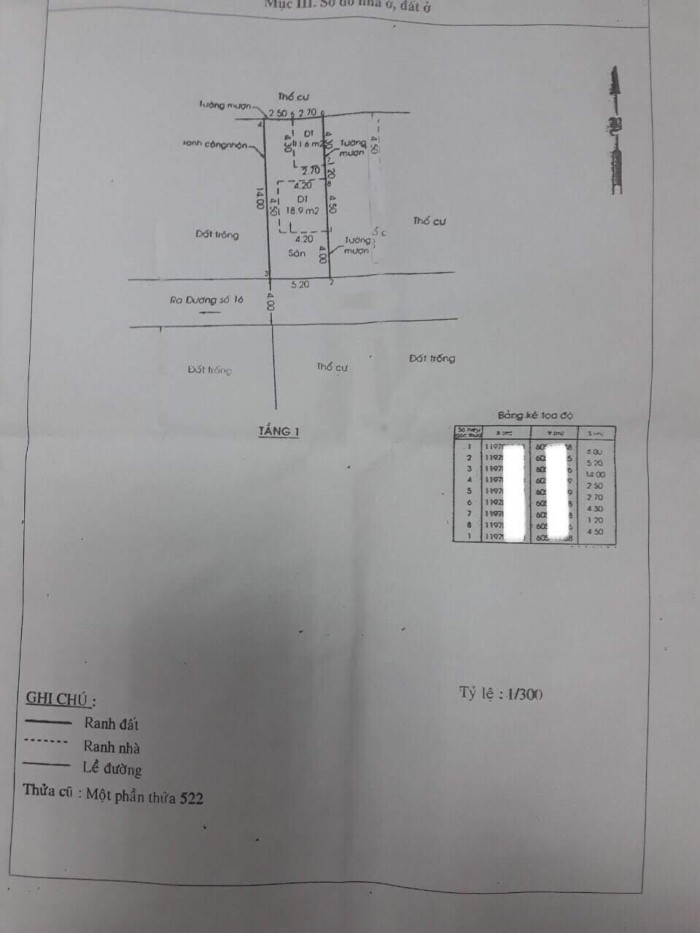 bán lô đất duy nhất còn sót lại đường 16  hbc, dt 72 m2