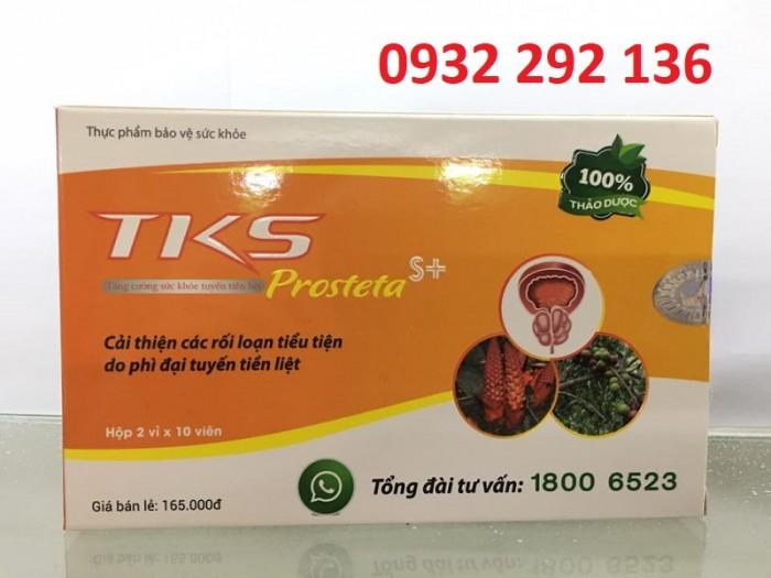 TKS Protesta S+ có tác dụng giúp cải thiện rối loạn tiểu tiện do phì đại tiền liệt tuyến, hỗ trợ điều trị và giúp giảm sưng tiền liệt tuyến, giúp đường tiểu thông thoáng hơn. Giúp giảm tình trạng tiểu són, tiểu nhỏ giọt, tiểu ướt mũi giày...0