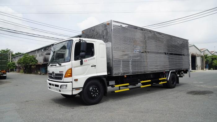 Xe tải Hino 8.2 tấn thùng kín inox, trả trước 100 triệu nhận xe ngay - Gọi 0978015468 (MrGiang 24/24)