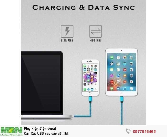 Cáp Xạc USB cao cấp dài 1M