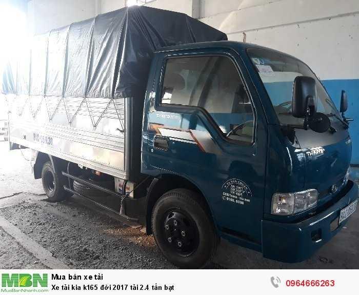 Xe tải kia k165 đời 2017 tải 2.4 tấn bạt
