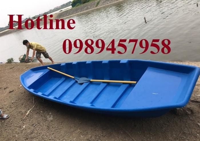 Thuyền nhựa chèo tay 2-3 người, thuyền composite chở 4-6 người