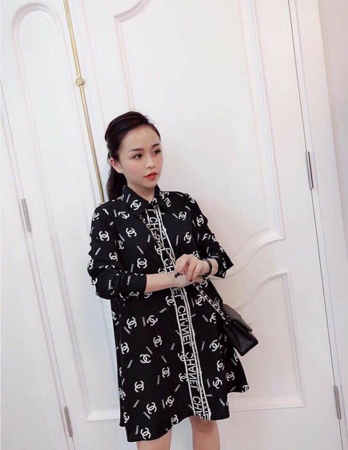 [1] Đầm sơ mi form rộng Chanel (DB2236)