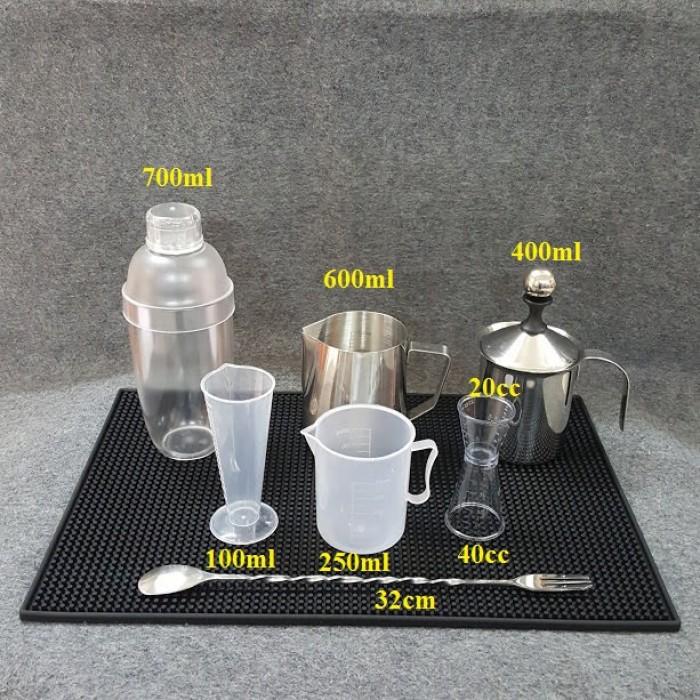 Combo các dụng cụ pha chế chuyên dùng cho quầy cà phê, sinh tố, trà sữa, bar, nhà hàng.7